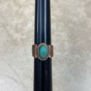 Copper western ring (Size 7.5)